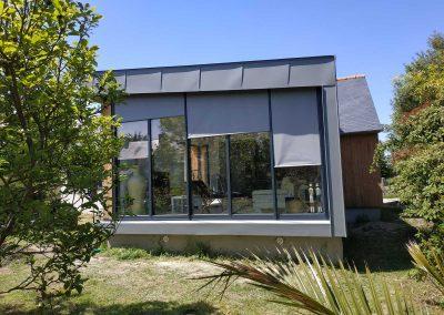 Extension ossature bois – Beaussais-sur-Mer (22)